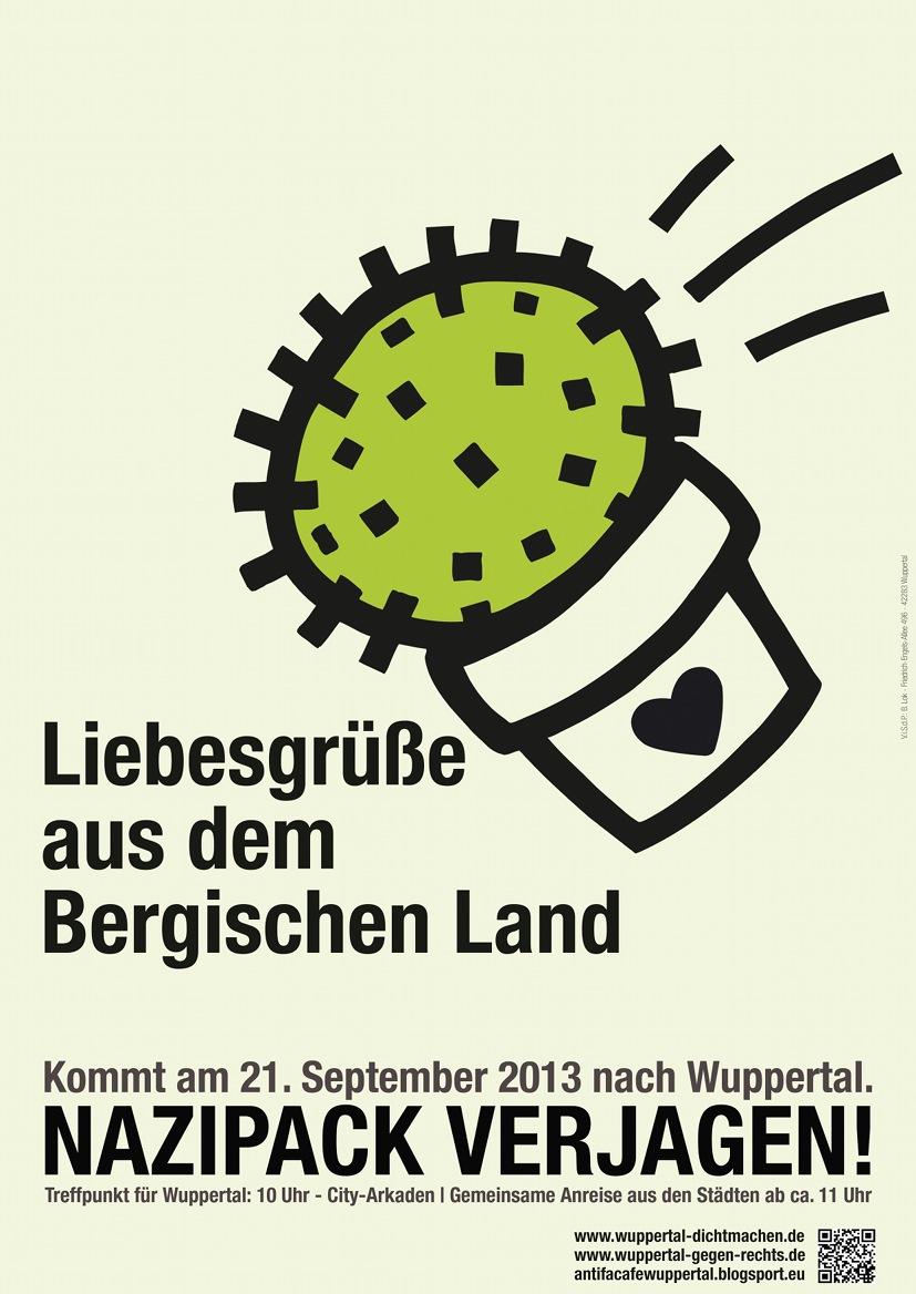 21. September 2013 - Wuppertal dichtmachen! Nazipack verjagen!