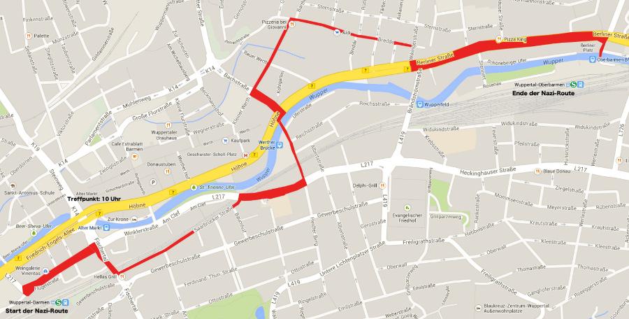 mögliche Route